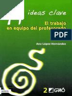 El Trabajo en Equipo Del Profesorado - Ana L. Hernández-FREELIBROS.org