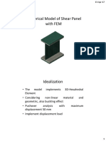 Numerical Model of Shear Panel With FEM