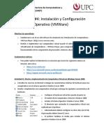 Laboratorio 5A - Instalación y Configuracion de Sistema Operativo Windows (VMWare)
