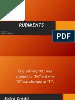 Rudiments 0706