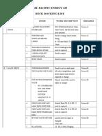 PE328 Docking List