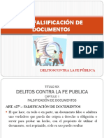 Falsificacion de Documentos