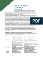 Analisis Kasus Asuransi Konvensional Dan Asuransi