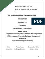 SIP Report on ONGC (Neha) (1)