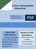 Prinsip Dasar Teknologi DNA Rekombinan