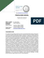SIMKIN. Programa Psicología Social Cod. 266. Carrera de Sociología, Facultad de CIencias Sociales, UBA. 1C2017