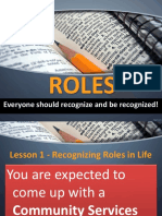 Recognizing Roles in Life