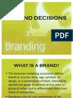 Brand Decisions