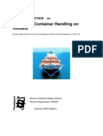 CO Code of Safe Practice for Shipboard Container Handling On