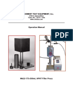 M622-175+500 Fluid Loss Operation Manual