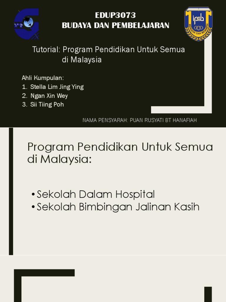 Program Pendidikan Untuk Semua Di Malaysia