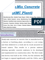 Ready-Mix Concrete (RMC Plant) Manufacturing Plant, Detailed Project Report, Profile, Business Plan, Industry Trends, Market Research, Survey, Manufacturing Process, Machinery, Raw Materials, Feasibility Study, Investment Opportunities, Cost and Revenue, Plant Economics, Production Schedule, Working Capital Requirement, Plant Layout, Process Flow Sheet, Cost of Project, Projected Balance Sheets, Profitability Ratios, Break Even Analysis