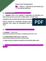 Programa Fonte Transbordante Primeira de Dezembro 2015