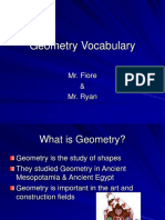 Math Geometry Vocabulary