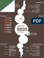 Resume Akhila Sekhar