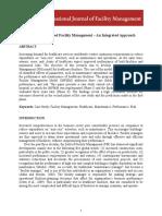 Performance-Based Facility Management