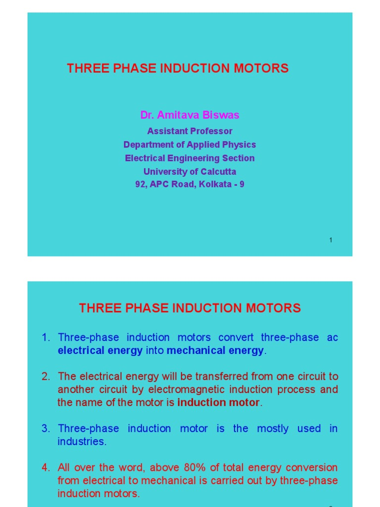 Three Phase Induction Motor | Electromagnetic Induction | Electrical ...