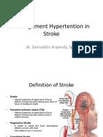 Manajemen Hypertension in Stroke