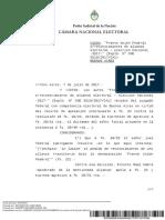 Decisión de la Cámara Electoral sobre Unión Federal II