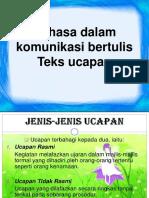 Bahasa Dalam Komunikasi Bertulis (1)