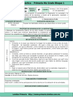 Plan 4to Grado - Bloque 1 Educación Artística (2016-2017)