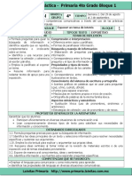 Plan 4to Grado - Bloque 1 Español (2016-2017).doc