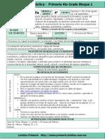 Plan 4to Grado - Bloque 1 Geografía (2016-2017)