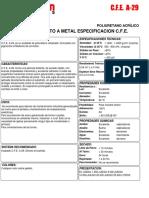 CFE a 29 Poliuretano Acrílico