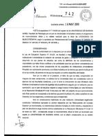 5.Res 742_Creación , Reconocimiento Oficial y Validez Nacional Lic en Mt (2009)
