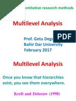8) Multilevel Analysis