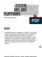 Online System, Functions, And Platforms