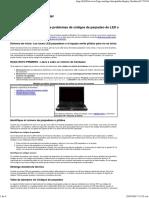 Notebooks HP - Solución de Problemas de Códigos de Parpadeo de LED