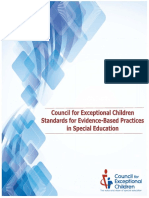 CECs Evidence Based Practice Standards
