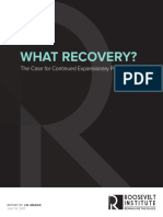 What Recovery? The Case for Continued Expansionary Policy at the Fed