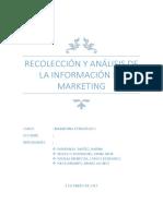 Recolección y Análisis de La Información de Marketing