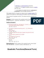 A Quadratic Function