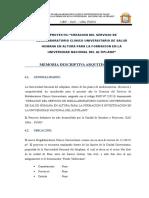 15 MEMORIA DESCRIPTIVA ARQUITECTURA HOSPITAL UNIVERSITARIO.doc