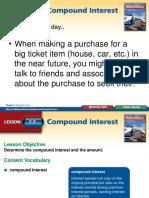 Lesson 5.5 Compounding Interest