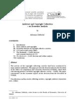 A. Zablocka, Antitrust and Copyright Collectives – an Economic Analysis