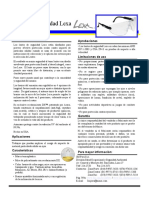 Ficha Tecnica - Gafas AOSafety