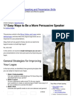 17 Easy Ways to Be a More Persuasive Speaker