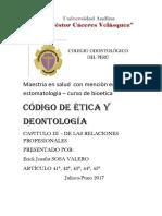 Etica en Odontologia