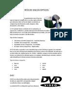 Tipos de Discos Opticos