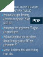 Rencana Tutup Tambang (CAIT)