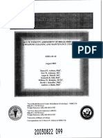 2003-08 Acute Toxicity Assessment of Break-Free CLP-A Weapons Cleaning and Maintenance Compound
