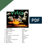 VAG Discografia Track Lists