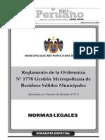 Ordenanza de Gestión de RR.SS.