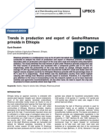 Trends in production and export of Gesho/Rhamnus prinoids in Ethiopia