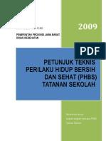 Cover Juknis PHBS SEKOLAH Di Jawa Barat