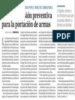 07-07-17 Plantean prisión preventiva  para la portación de armas